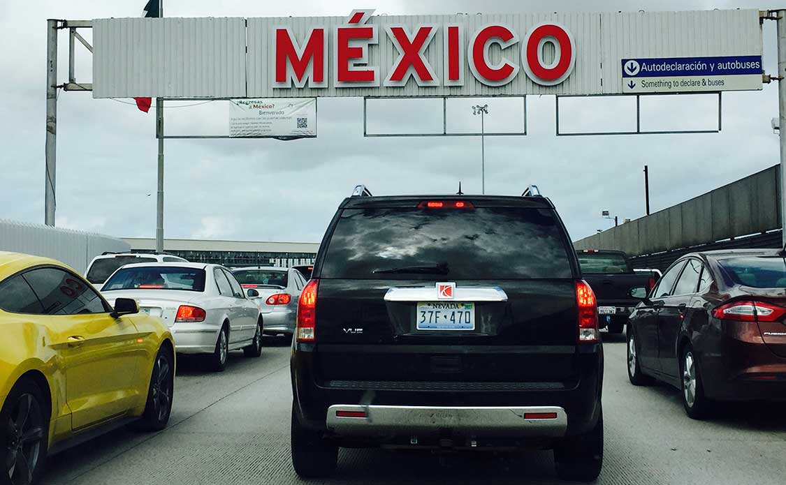 SUV Enters Tijuana, Mexico at U.S. border