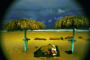 Sleeping on the Beach in Tampico