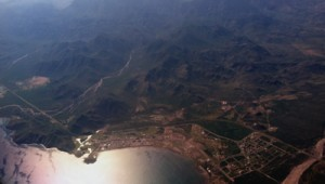 Loreto Bay from Airplane