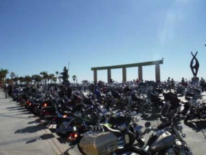 Ocean of Motorcycles by the Sea