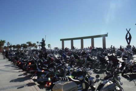 Ocean of Motorcycles by the Sea