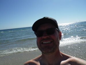 Mike Mercer on Beach in Rocky Point
