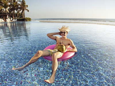 Floating in Pool Mexico