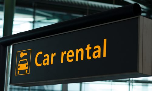Rental Car sign