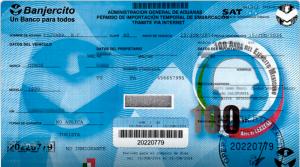 Temporary Importation Permit Banjercito