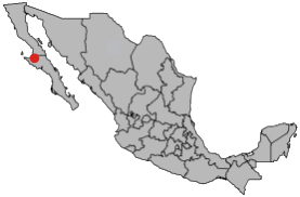 Guerrero Negro on Mexico Map