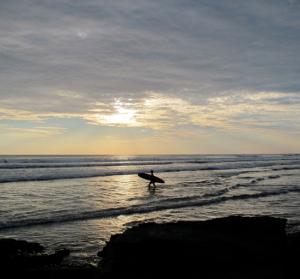 Sunset Surfing Baja
