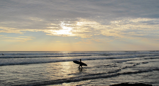 Sunset Surfing Baja