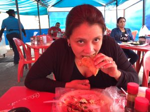 Taco eating Tijuana