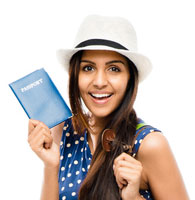 with passport book