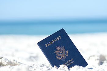 Passport in Sand