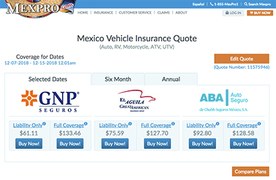Who are Mexpro's Mexico Insurance...