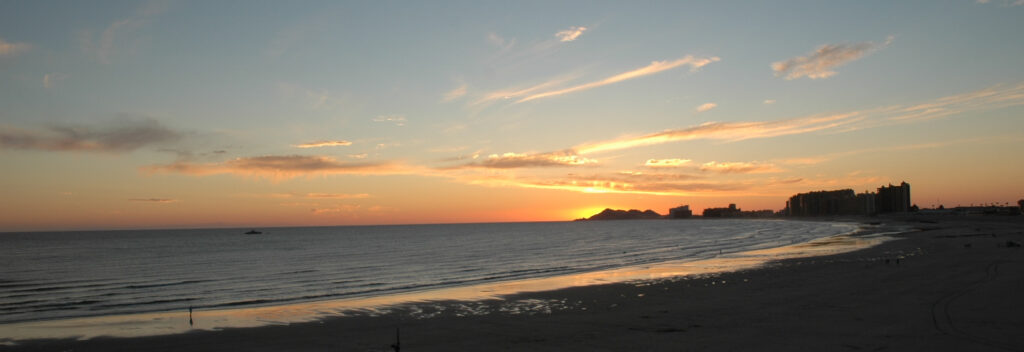 Rocky Point Sunset on Sandy Beach